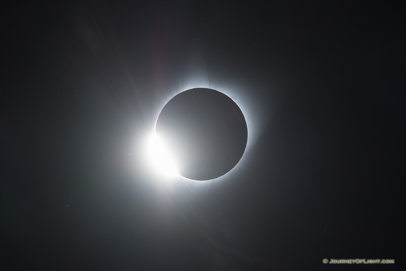 The Diamond Ring of the Total Solar Eclipse captured over Agate Fossil Beds National Monument in Northwestern Nebraska. - Agate Fossil Beds NM Picture