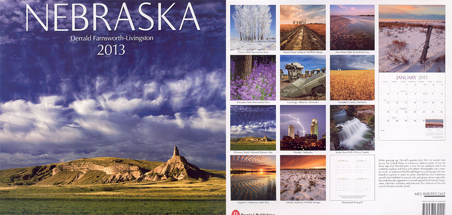 2013 Nebraska State Pride Calendar.  Sold in Costco, Barnes and Noble, and Calendar Club.  Contributed All Photography. -  Picture
